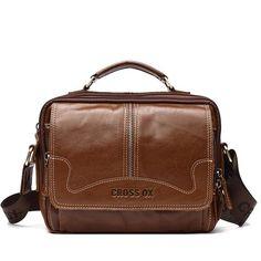 New Cowhide Genuine Leather Messenger Bag Men Shoulder Satchel Handbag Briefcase Satchel Handbags, Leather Handbags, Fashion Bags, Male Fashion, Ipad Bag, Messenger Bag Men, Cow Leather, Men's Bags, Moda Masculina