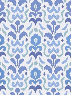 Stroheim Wallpaper Montenegro-Navy Blue $73.75 per roll #interiors #decor #blue #floral #damask #designers #ethnic