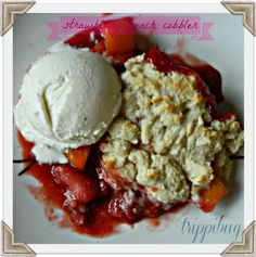 Strawberry Peach Cobbler
