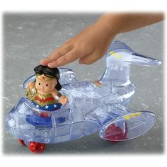 DC Super Friends Wonder Woman Jet -- Wonder Woman flies to the rescue in her invisible jet! (Ages 1 - 4)