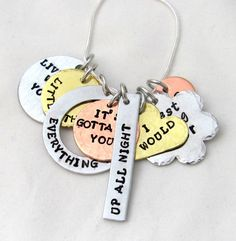 Ultimate One Direction Lyric Necklace Hand by StampedOutLove