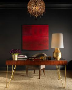 Mix 'n' Match Interior Styling | such dark colours  yet such a bright feel - could it be the light carpet?