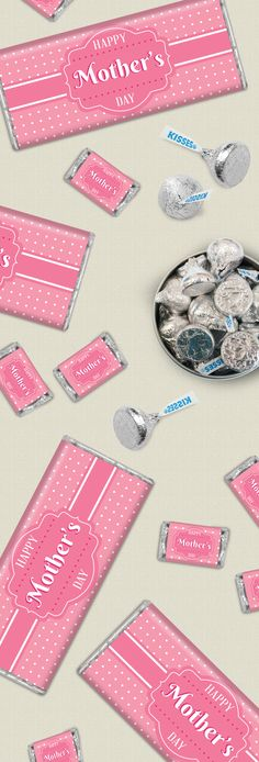 Create pretty personalized candy for mom on Mother's Day with custom candy bar wrappers like She Knows Best. This feminine pink design features a polka dotted background with a message in a fancy central frame. Birthday Message For Father, Nice Birthday Messages, Birthday Card Sayings, Birthday Wishes, Birthday Parties, Personalized Candy, Personalized Chocolate, Happy Mothers Day, Mother Day Gifts