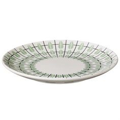 Create a retro inspired table setting with this Olivia plate from Superliving! The popular Olivia series is made in Bone china and has a stylish 50th century pattern with black stripes and pastel colored drops. This small plate is perfect for a side salad, a sandwich, or cookies and complements the mug and bowl in the same series.