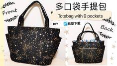 Pocket, Tote Bag, Pattern, Bags, Diy, Tutorials, Totes, Handbags, Bricolage