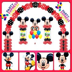 Mickey Mouse Theme Balloons