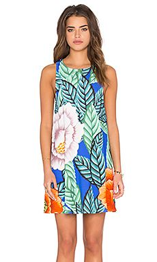Mara Hoffman Swing Dress in Flora Blue