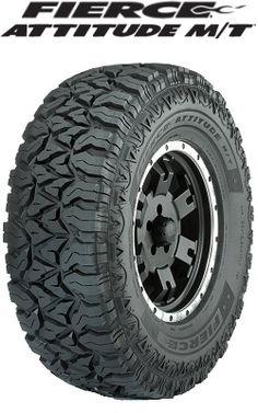 Fierce Tires Part 357194294 - Attitude M/T - 4 Wheel Parts Truck Tyres, Truck Wheels, Wheels And Tires, 4x4 Tires, Jeep Wheels, Land Cruiser, Tires For Sale, Automobile, Off Road Tires