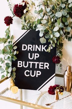 How to make bar-cart signage with @cricutofficial | Photo and styling by Plum & Oak