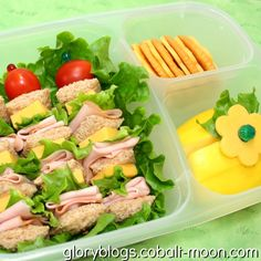 Sandwich Kabob Bento Lunch - Trying to get easy lunch ideas for school, love the sandwich kabob!