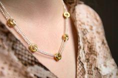 DIY necklaces. collar de tuercas, haslo tu mismo