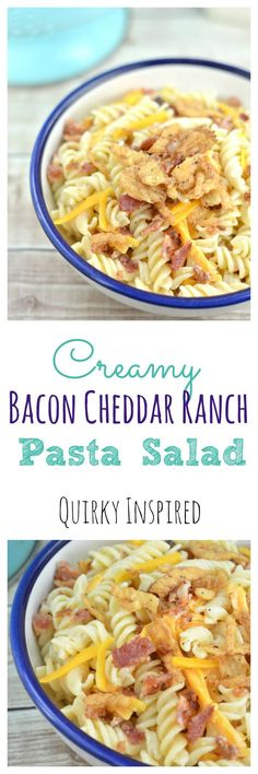 This is one easy pasta salad recipe, and it's so delicious you won't ever have leftovers. My family loves this creamy bacon cheddar ranch pasta salad.
