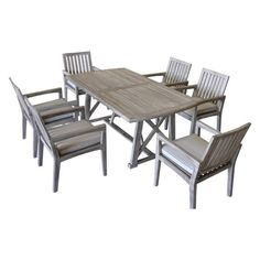 Teak Surf Side Rectangle Outdoor Dining Table - Driftwood Gray - Courtyard Casual : Target