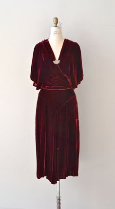 Babylon Revisited dress 1930s silk velvet dress by DearGolden