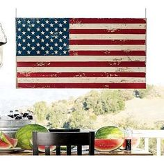 Painted Flag Wall Art