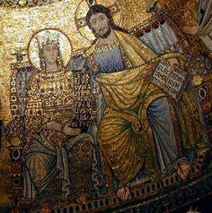 Maria regina nella Basilica di Santa Maria in Trastevere