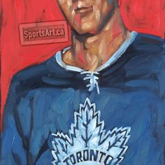 "The Tim Horton name has become an icon for the donut and coffee shop chain that he founded in the mid-sixties. Many people don't know Horton played in more NHL games than any defenseman in history. This was inspired by the classic ""Tall Boys"" card set. Tall Boys, Tim Hortons, Nhl Games, Hockey Cards, Toronto Maple Leafs, Sports Art, Love Art, History, Detail"