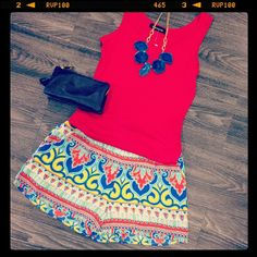 Summer outfit. It's so colorful ❤