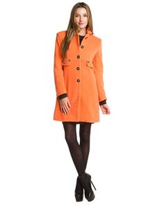 Winter Coat Picks: Colorful Skirtin Around Jacket with chain detail.