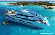 Dennis Ingemansson Imagines a Solar-Powered Catamaran Yacht