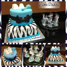 Baby Shower Cakes For A Girl Zebra Print   Party U0026 Shower Cakes   Marahs Baby  Shower   Pinterest   Zebra Print, Shower Cakes And Cake