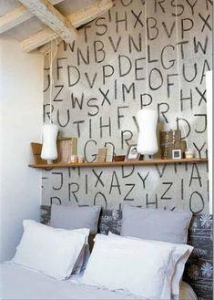 Decorar las paredes con letras y números | Decorar tu casa es facilisimo.com