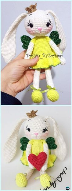 Amigurumi Crochet Princess Bunny Lemon Free Pattern - #Crochet; Amigurumi #Bunny; Toy Softies Free Patterns