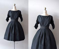 1950s dress / vintage 50s dress / Etiquette Class. $134.00, via Etsy.