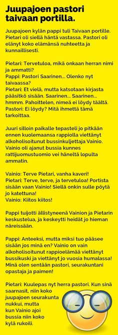 juupajoen_pastori_2 Black Like Me, Julia Roberts, Jokes, Lol, Comics, Pictures, Funny Stuff, Language, Pastor