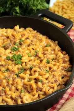 Cheeseburger Macaroni Skillet  - Homemade Hamburger Helper