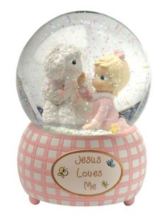 Precious Moments 100mm Musical Waterball Tune, Jesus Loves Me, Girl - List price: $25.00 Price: $19.68 + Free Shipping