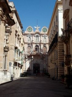 Trapani old town centre - Sicily
