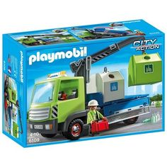 Playmobil - Camión de residuos con contenedores para el vidrio (6109): Amazon.es: Juguetes y juegos