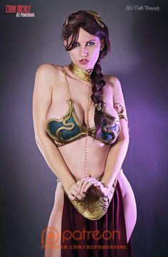 Cosplayer: AZ Powergirl Cara Nicole. Country: United States. Cosplay: Slave Leia from Star Wars. Photo by: Alfred Trujillo Photography. https://m.facebook.com/AZPowergirl/ @azpowergirl