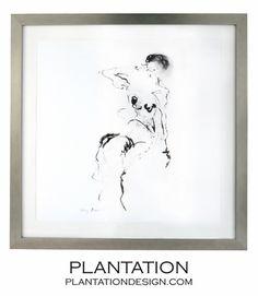 Desnuda Print | Silver Leaf Frame