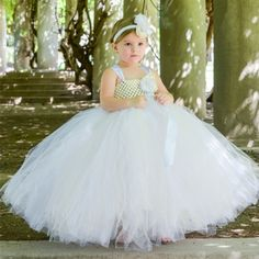 Find More Evening Dresses Information about Flower Girl Empire Waist Couture Flower Girl Tutu Dress White Ivory  Dress With Headband For Girls Wedding Evening Tutu Set,High Quality dresses leopard,China dress knee high boots Suppliers, Cheap dress tiger from Amy Tutu on Aliexpress.com