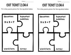 2.OA.4: ARRAYS WITH ADDITION: MATH TASKS, EXIT TICKETS, I CANS!! CCSS!! - TeachersPayTeachers.com