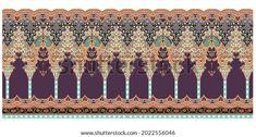 Digital Textile Design Ornament Pattern Stock Illustration 2022556046