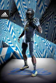 """The UCLA Bruins will have a new fashion statement to make for a select home game during the season. Last year, Adidas came up with a black """"L. Ucla Bruins Football, College Football Uniforms, College Uniform, Sports Uniforms, Football Jerseys, Football Is Life, Football Girls, Oregon Ducks Football, Ohio State Football"""