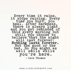 Every Time It Rains, It Stops Raining