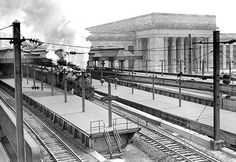 Buyenlarge Street Station, Philadelphia, PA by Free Library of Philadelphia Photographic Print Philadelphia History, Philadelphia Pa, 30th Street Station, Pennsylvania Railroad, Train Art, Free Library, Wilderness Survival, Places To Go, National Parks
