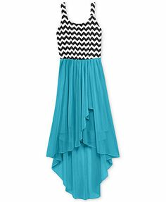 Ruby Rox Girls' Chevron High-Low Dress