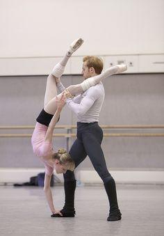"""Sarah Lamb & Steven Mcrae with The Royal Ballet rehearsing """"Metamorphosis: Titian"""""""