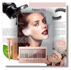 """NewChic !"" by dianagrigoryan ❤ liked on Polyvore featuring beauty and Maybelline"