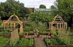 Potager Garden Oak Fruit Cage - A handmade pair of Fruit Cages, made out of seasoned oak, crafted in our Dorset workshop. Potager Garden, Veg Garden, Fruit Garden, Edible Garden, Vegetable Gardening, Easy Garden, Garden Arbours, Urban Gardening, Planting Vegetables