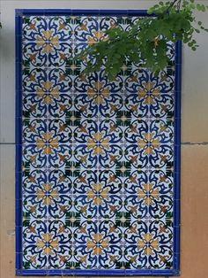 Spanish garden wall tiles