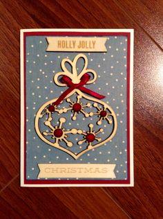Handmade Wooden Ornament Christmas Card