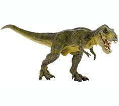 Réplica de Tiranosaurio Rex de Papo. Esta réplica de gran calidad y detalle parece de verdad! La mandíbula es articulada, se abre y se cierra para poder apreciar las filas de 60 dientes que tenía este fantástico animal prehistórico. También te recomendamos el Triceratops y el Parasaurolofus, eran su comida favorita !!!   Alto: 14 cm Largo: 33 cm Edad: a partir de 3 años Marca: Papo. Ref. 30413. Precio: 30.00 € IVA incluido