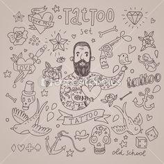 Doodles Vectors, Photos and PSD files Kritzelei Tattoo, Hand Tattoos, Tattoo Foto, Doodle Tattoo, Love Tattoos, Doodle Art, Small Tattoos, Tattoos For Guys, Tattoo Flash