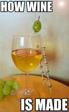 How wine is made.